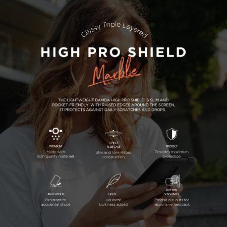 VRS Design Damda High Pro Shield OnePlus 7 5G Pro Case - Black Marble