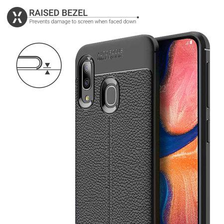 Olixar Attache Samsung Galaxy A20 Leather-Style Case - Black