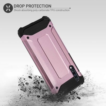 Olixar Delta Armour Protective Samsung Galaxy A70 Case - Rose Gold