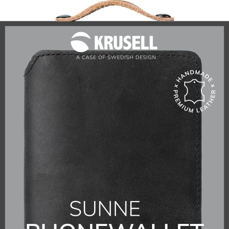 Krusell Samsung Galaxy Note 10 Plus Leather Wallet Case- Vintage Black