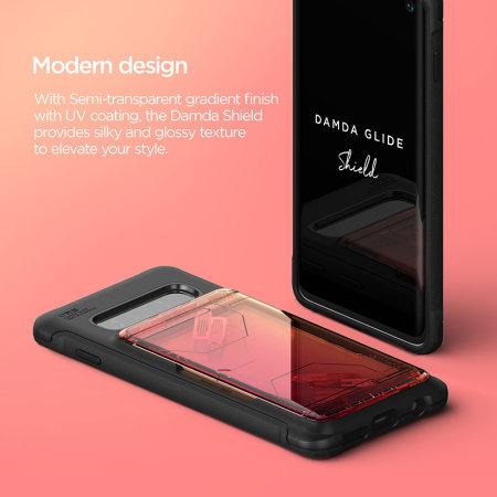 VRS Design Damda Glide Samsung Galaxy S10 5G Case - Yellow / Peach