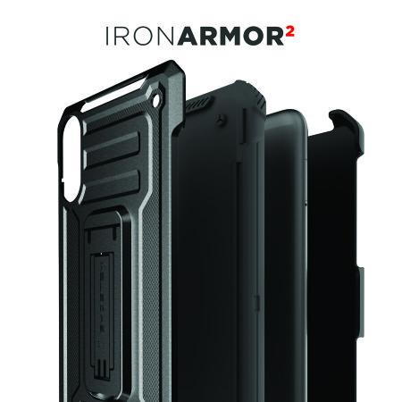 Ghostek Iron Armor 2 Samsung Galaxy A10 Case & Screen Protector -Black