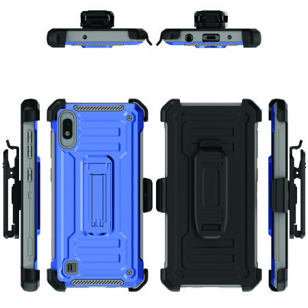 Ghostek Iron Armor 2 Samsung A10 Case & Screen Protector - Blue/Gray