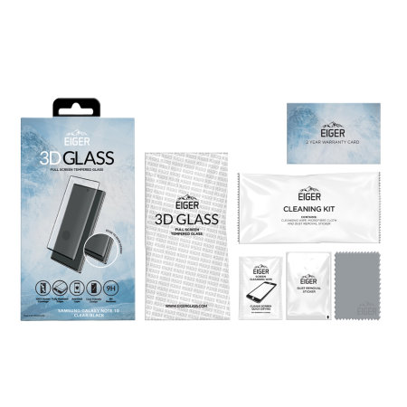 Eiger 3D Samsung Galaxy Note 10 Glass Screen Protector - Clear