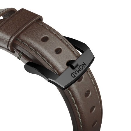 Nomad Traditional Apple Watch Strap - 44mm/42mm Brown Leather - Black