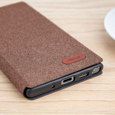 Olixar Canvas Samsung Galaxy Note 10 Wallet Case - Brown