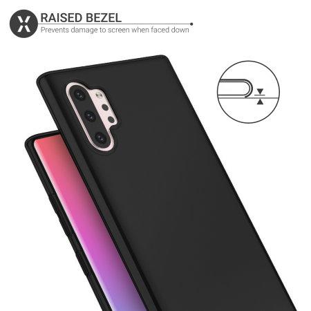 Olixar FlexiShield Samsung Note 10 Plus Slim Gel Case - Solid Black