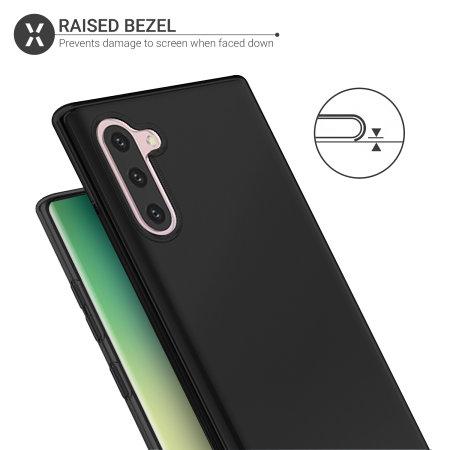 Olixar Flexishield Samsung Galaxy Note 10 Gel Case - Solid Black