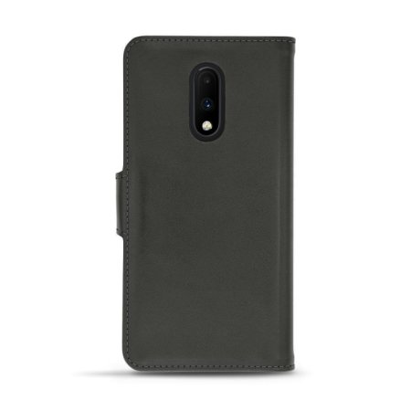 Noreve Tradition B OnePlus 7 Leather Wallet Case - Black