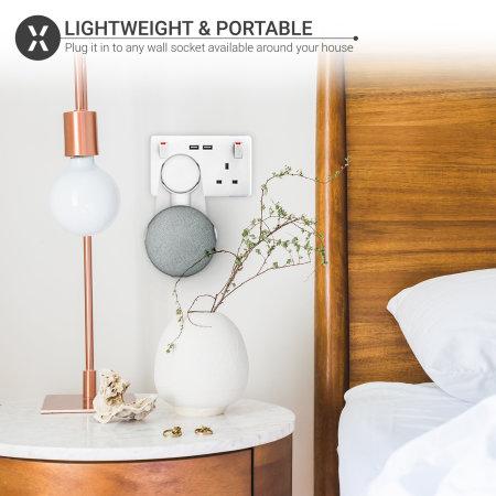 Soporte Enchufe Pared Olixar para el Google Home Mini - Blanco