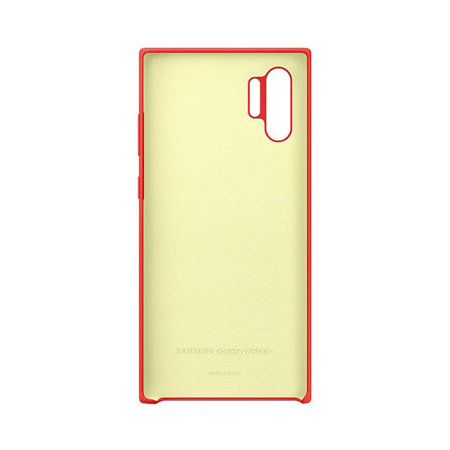 Official Samsung Galaxy Note 10 Plus Silicone Cover Case - Red