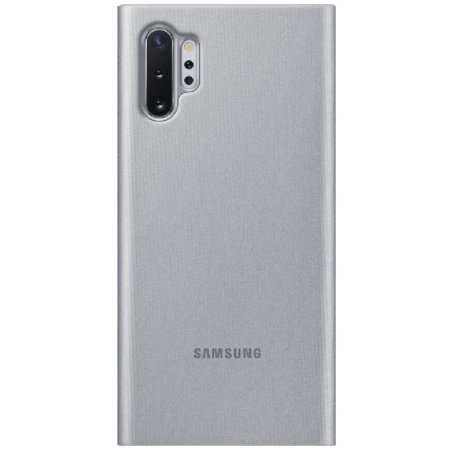 Official Samsung Galaxy Note 10 Plus Clear View Case - Silver