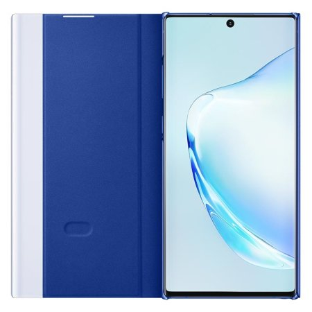 Officiële Samsung Galaxy Note 10 Plus Clear View Case - Blauw