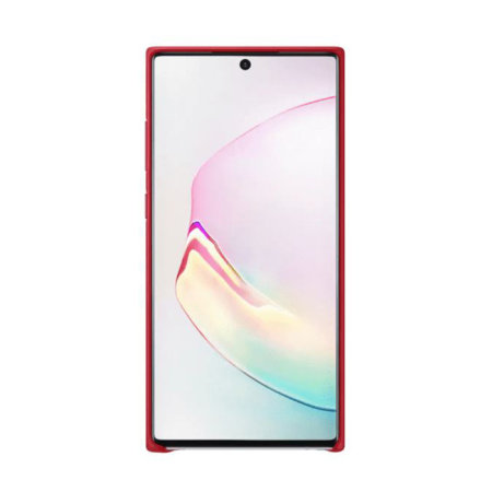 Official Samsung Galaxy Note 10 Plus Leather Cover Case - Red
