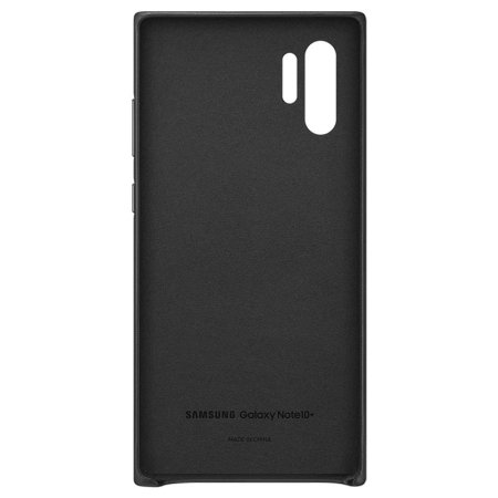 Official Samsung Galaxy Note 10 Plus Leather Cover Case - Black