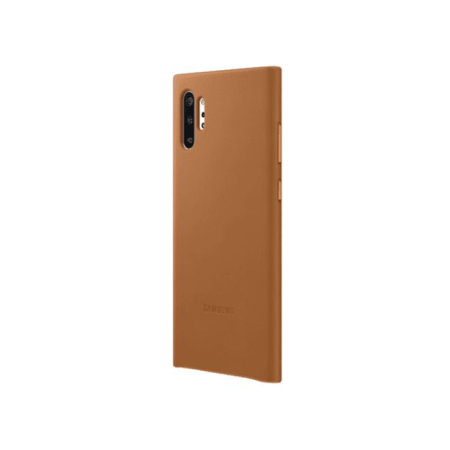 Official Samsung Galaxy Note 10 Plus Leather Cover Case - Camel