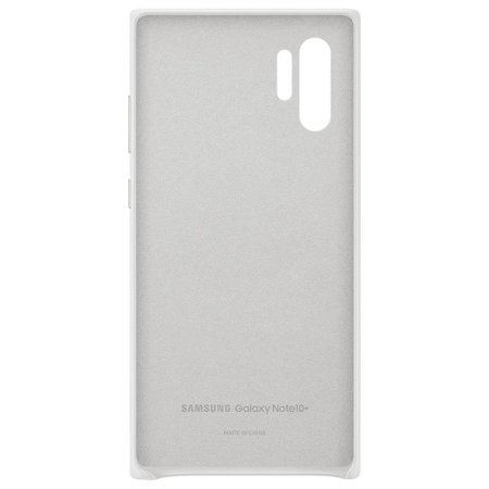 Official Samsung Galaxy Note 10 Plus Leather Cover Case - White