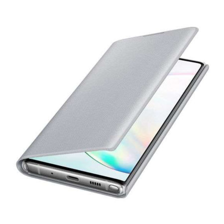 Official Samsung Galaxy Note 10 LED View Cover Case - Silver