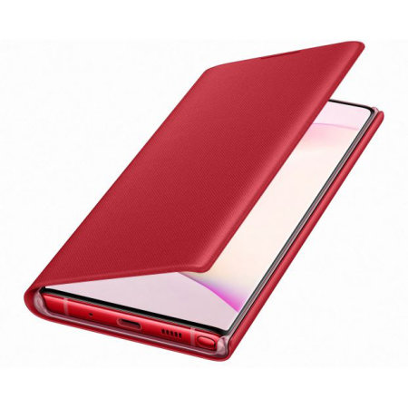 Official Samsung Galaxy Note 10 LED View Cover Case - Red