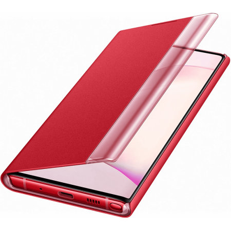 Official Samsung Galaxy Note 10 Clear View Case - Red
