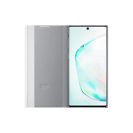 Official Samsung Galaxy Note 10 Clear View Case - Silver