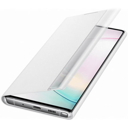 Official Samsung Galaxy Note 10 Clear View Case - White