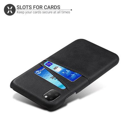 Olixar RFID Blocking iPhone 11 Pro Max Executive Wallet Case - Black
