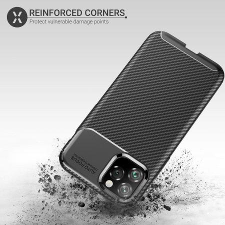 Olixar Carbon Fibre Apple iPhone 11 Pro Case - Black