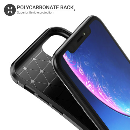 Funda iPhone 11 Olixar Fibra de Carbono - Negra