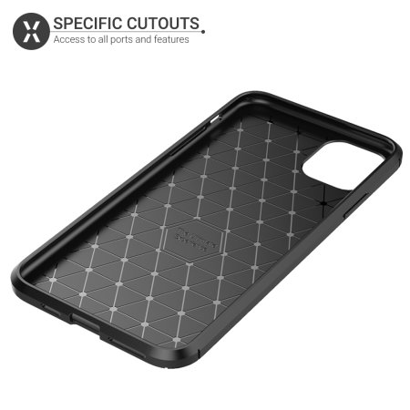 Olixar Carbon Fibre iPhone 11 Pro Max Case - Black