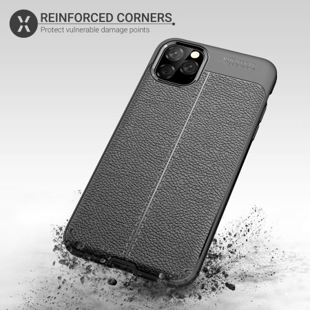 Olixar Attache iPhone 11 Pro Max Leather-Style Protective Case - Black