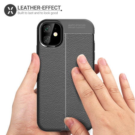 Olixar Attache iPhone 11 Leather-Style Protective Case - Black