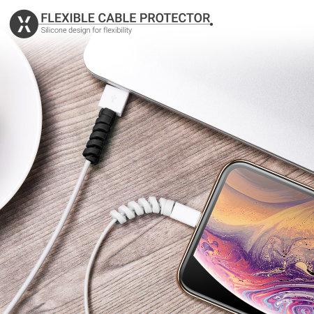 Olixar Universal Kabelschutzfolien - Schwarz-Weiß - 6er Packung