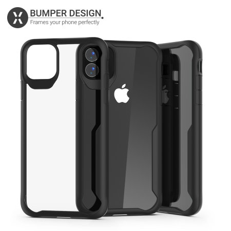 Olixar NovaShield iPhone 11 Bumper Case - Black / Clear