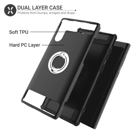 Olixar ArmaRing Samsung Galaxy Note 10 Finger Loop Tough Case - Black