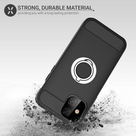 Olixar ArmaRing iPhone 11 Finger Loop Tough Case - Black