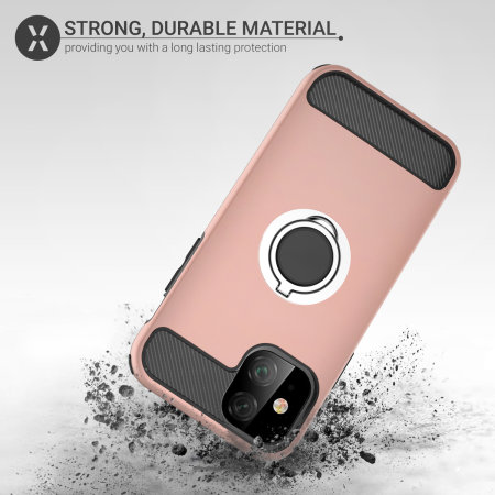 Olixar ArmaRing iPhone 11 Finger Loop Tough Case - Rose Gold