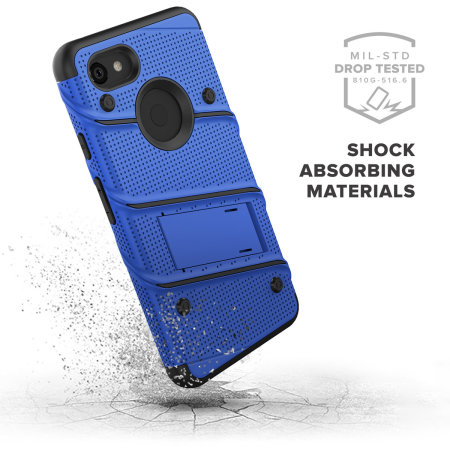 Zizo Bolt Google Pixel 3A XL Tough Case & Screen Protector- Blue/Black
