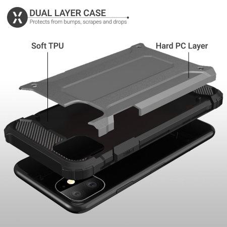 Olixar Delta Armour Protective iPhone 11 Case - Gunmetal