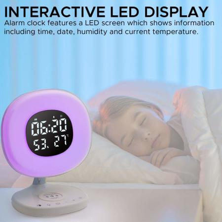 Promate AuraRise Multi-Function LED Wireless Charging Alarm Clock