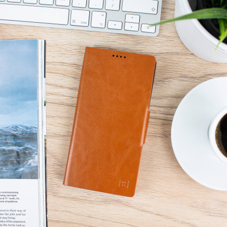Olixar Leather-Style Samsung Note 10 Plus Wallet Stand Case  - Brown