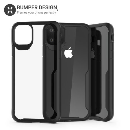 Olixar NovaShield iPhone 11 Pro Max Bumper Case - Black