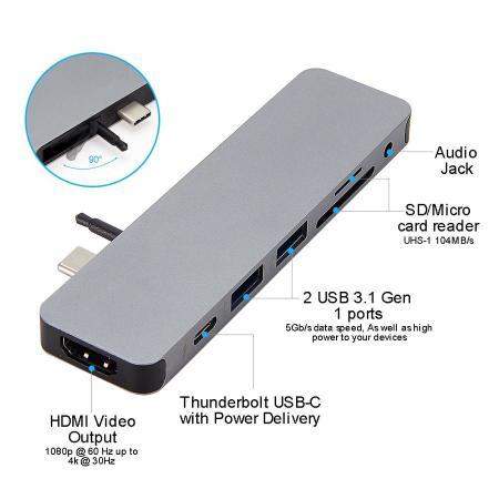 HyperDrive Solo 4K Hub 7-in-1 - Space Gray