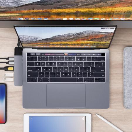 HyperDrive NET 6-in-2 USB-C Hub for MacBook Pro / Air - Space Gray