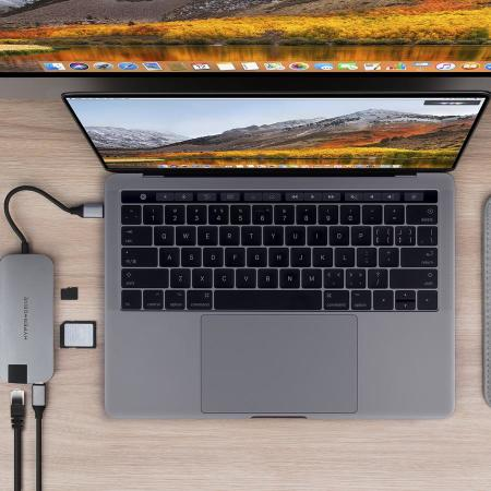 HyperDrive Slim 8-in-1 Hub for USB-C Devices - Space Grey