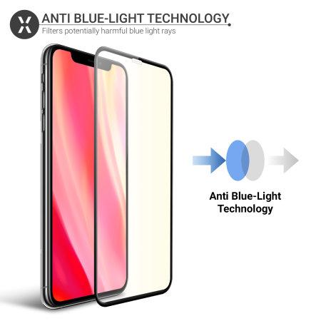 Protector Pantalla iPhone 11 Pro Max Cristal Olixar Anti Luz Azul