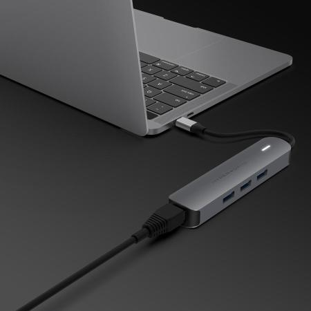 Concentrador HyperDrive Tube 6 en 1 USB-C 4K - Gris espacial