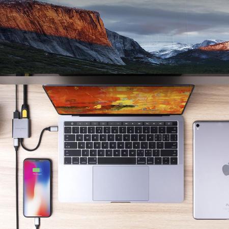 HyperDrive 3-in-1 USB-C MacBook 4K Hub - Space Grey