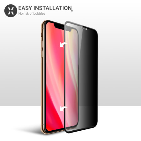 Olixar iPhone 11 Pro Max Privacy Tempered Glass Screen Protector