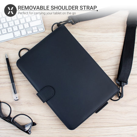 "Olixar Universal 9-10"" Tablet Case With Hand & Shoulder Straps - Black"